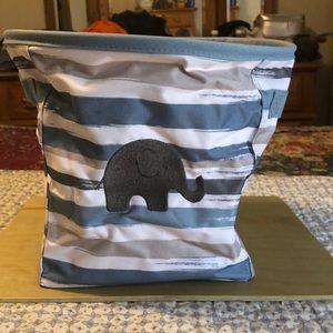 Thirty One Mini Storage Bin Brush Strokes Elephant
